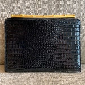 Vintage Mayer New York Faux Bamboo Clasp Clutch
